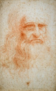 Leonardo da Vinci, Portrait of a Man, ca 1490, red chalk on paper, Turin, Biblioteca Reale