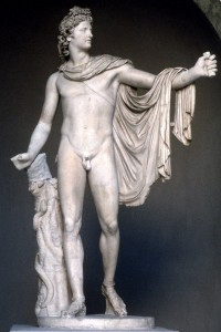 Apollo Belvedere, marble, Roman copy of a bronze Greek original, Rome, Vatican Museums
