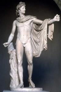 Apollo Belvedere, marble, Roman copy of a bronze Greek original, Rome, Vatican Museums